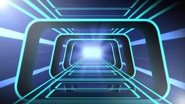 Tron Tunnel: Stock Motion Graphics