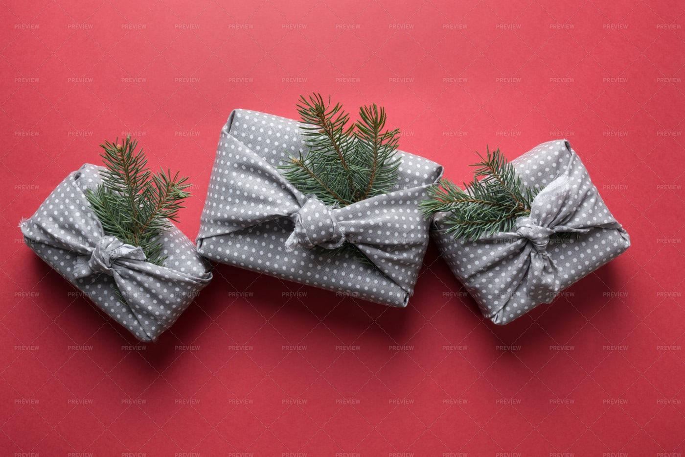 Three Christmas Gifts: Stock Photos