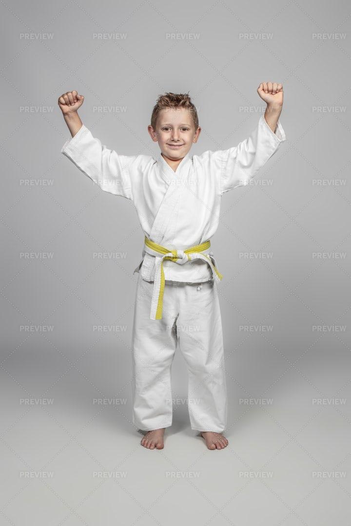 Child Wearing Judogi: Stock Photos
