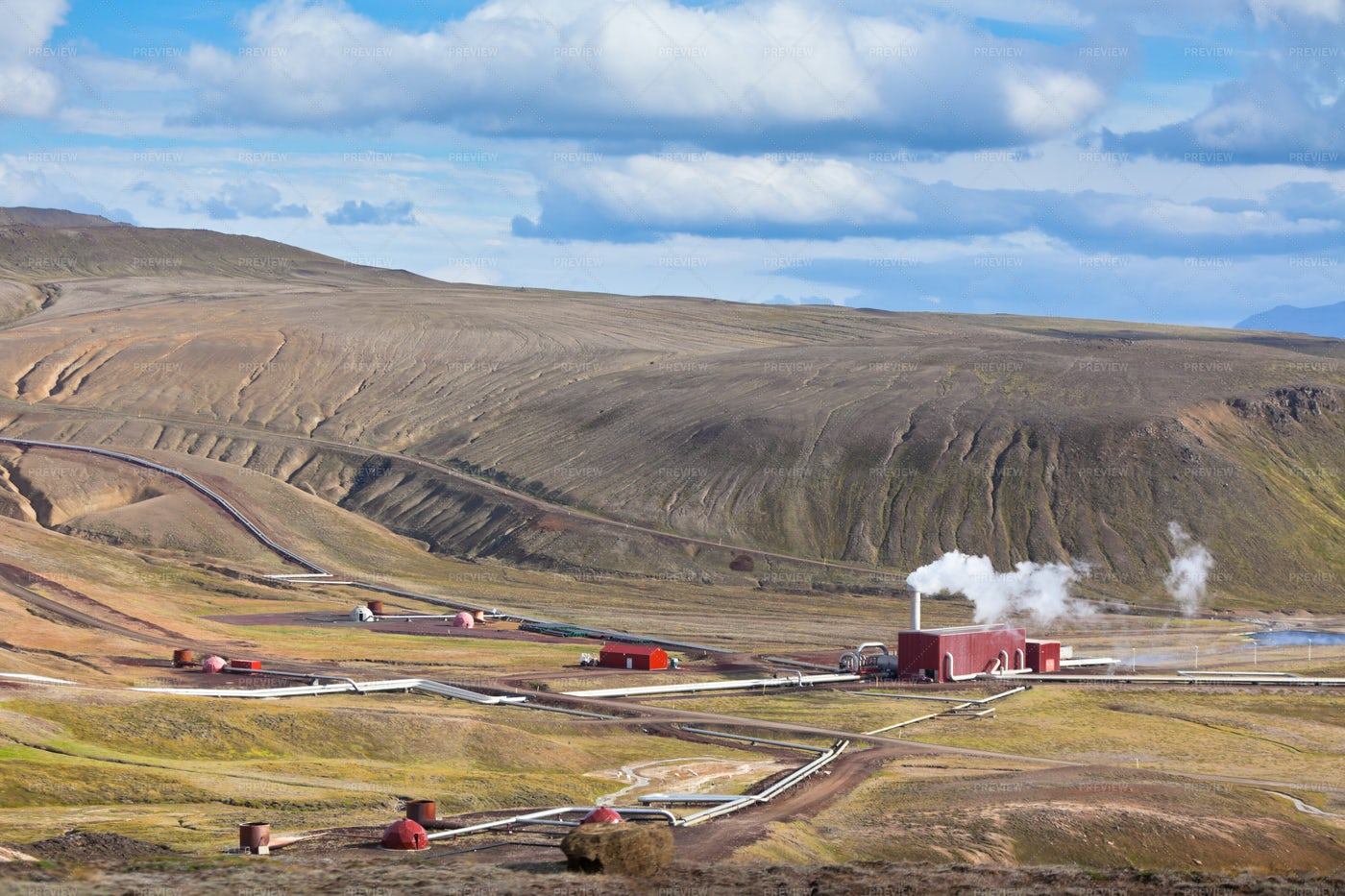Geothermal Power Station: Stock Photos