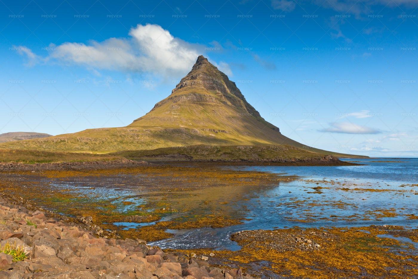 Kirkjufell Mountain In Iceland: Stock Photos