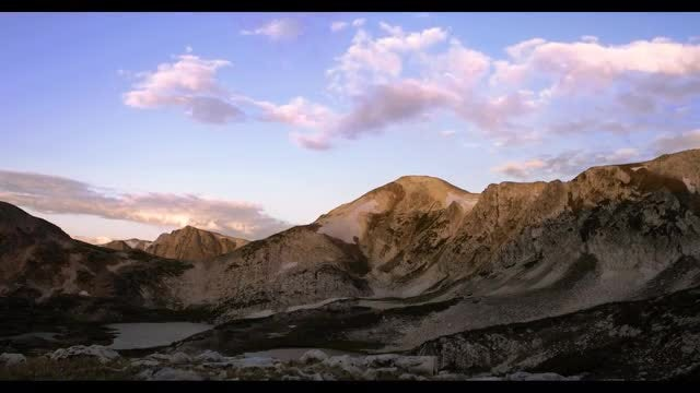 Time-lapse Of Wyoming Mountains : Stock Video
