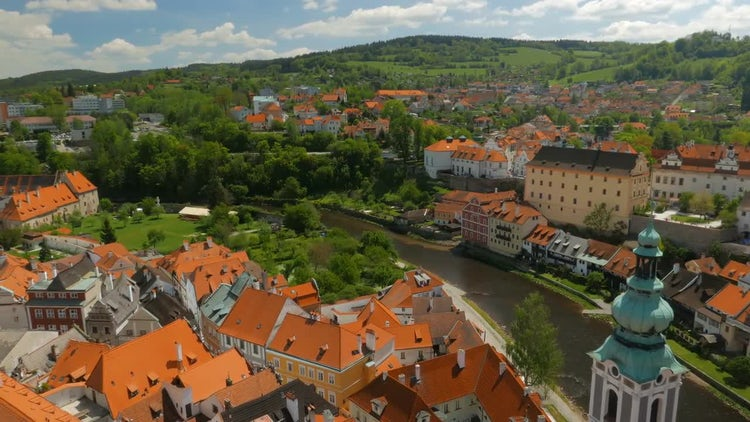 Cesky Krumlov In Czech Republic: Stock Video