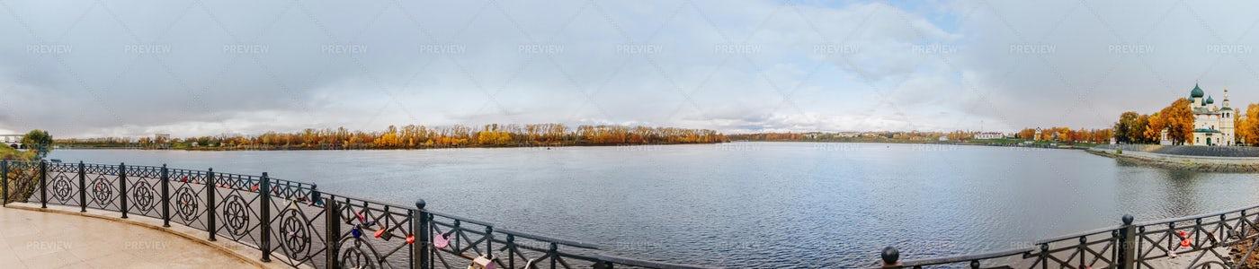 Beautiful Lake Panorama: Stock Photos