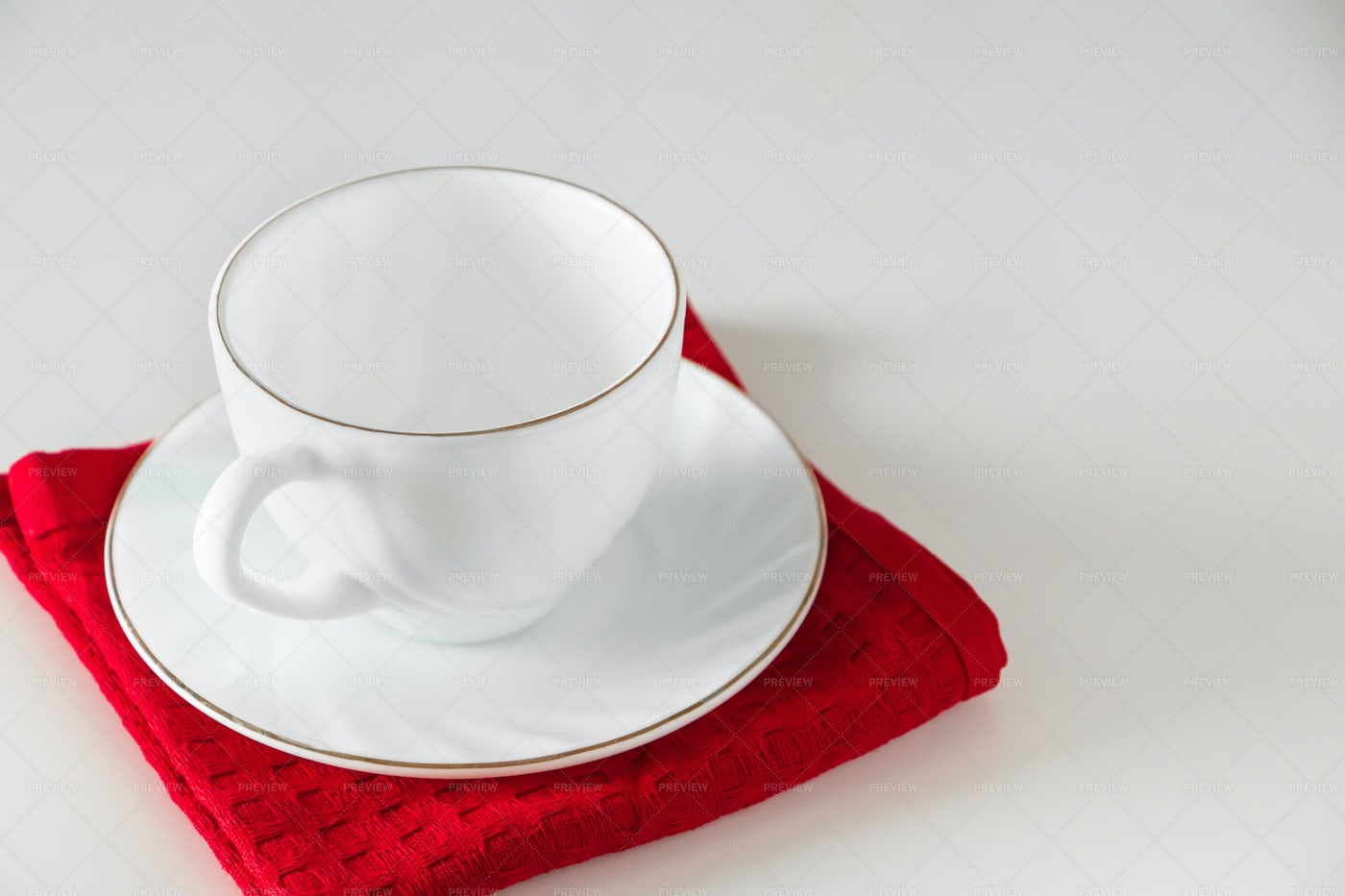 White Cup For Coffee: Stock Photos