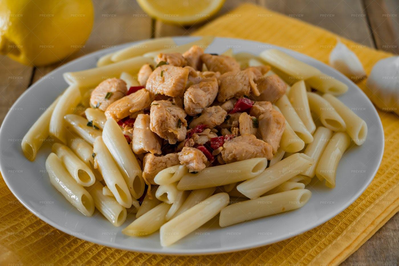 Penne Pasta Close-Up: Stock Photos