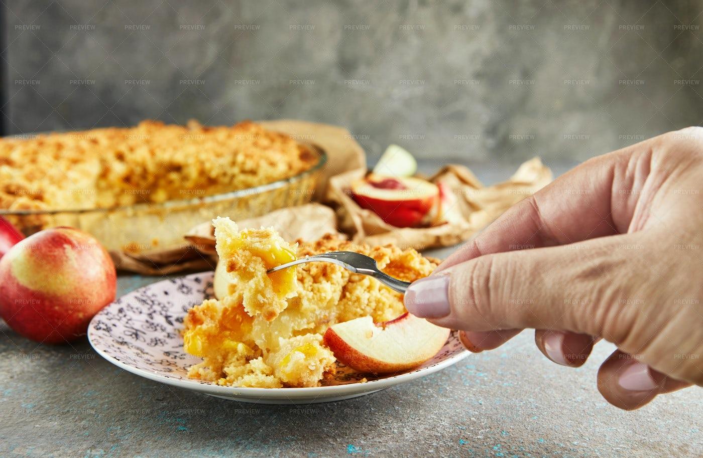 Eating Apple Pie: Stock Photos