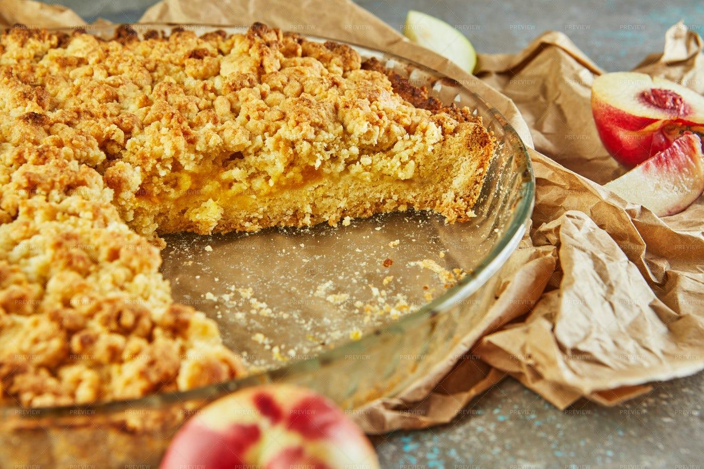 Cake In A Baking Dish: Stock Photos