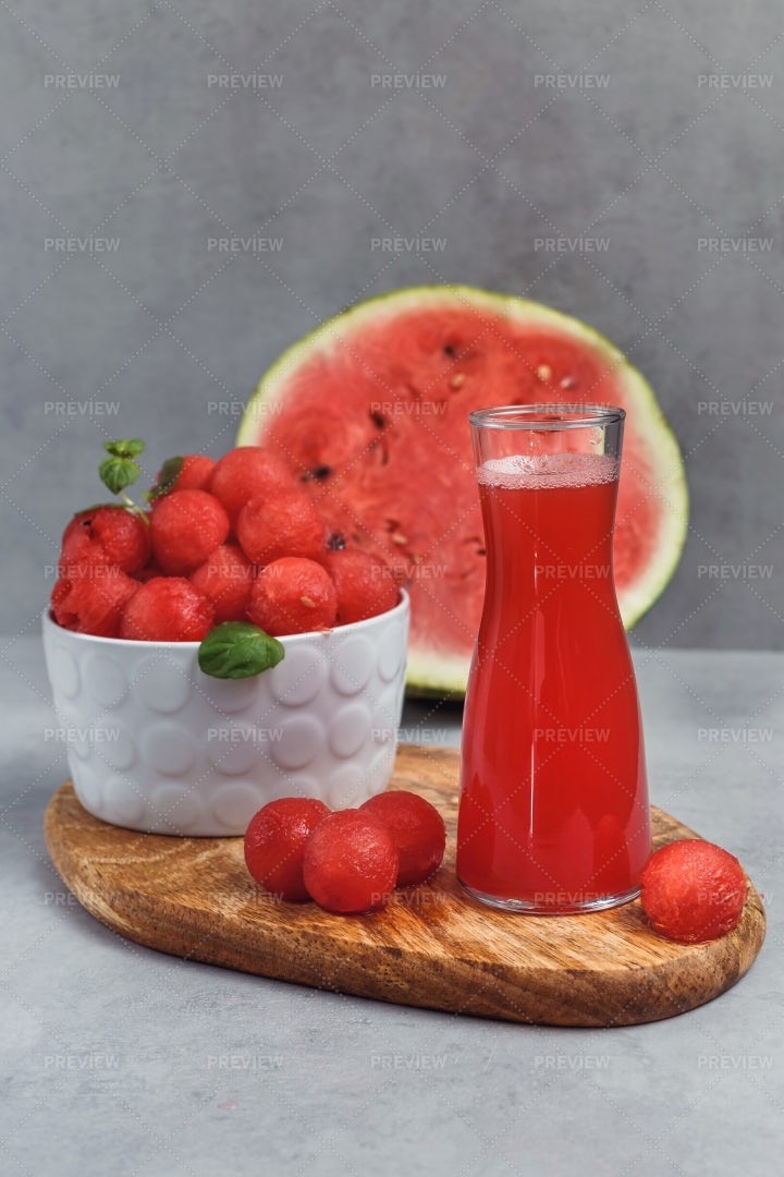 Watermelon Products: Stock Photos
