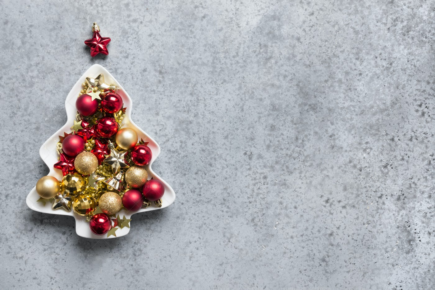 Christmas Tree Made Of Baubles: Stock Photos