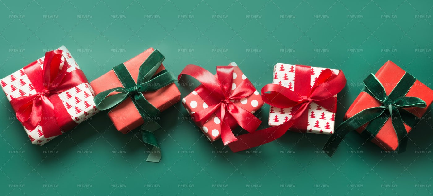 Banner Of Christmas Gifts: Stock Photos