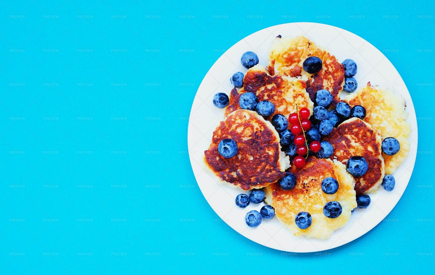 Pancakes And Berries: Stock Photos