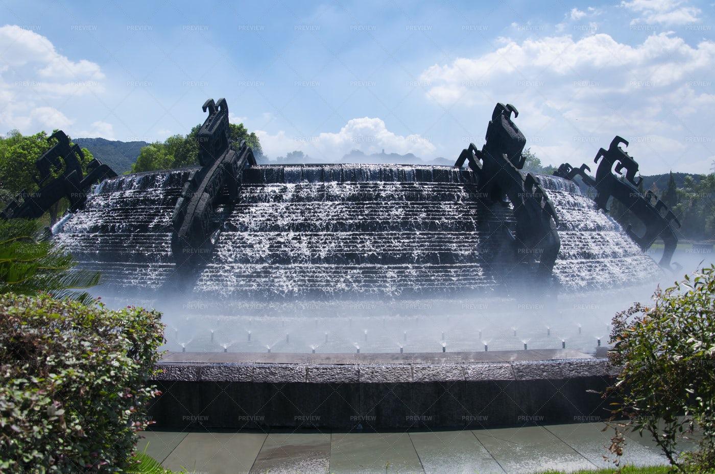 Dragon Water Fountain: Stock Photos