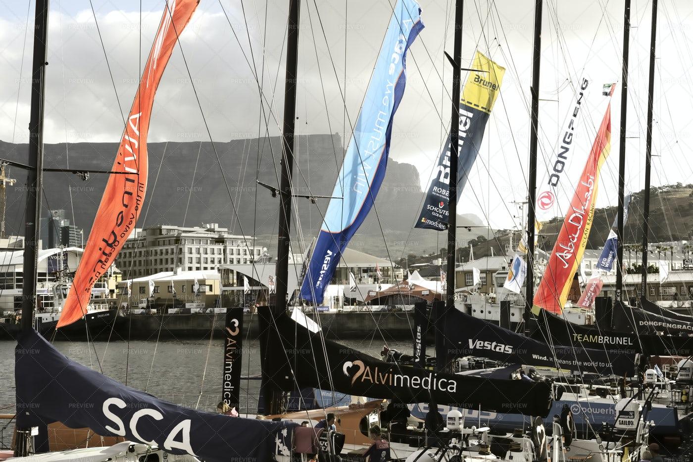 Ocean Race Sailing Fleet: Stock Photos