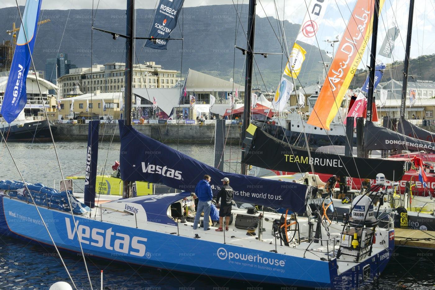 Vestas Race Team Boat: Stock Photos