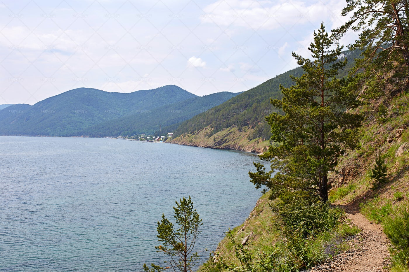 Great Baikal Seaside Trail: Stock Photos