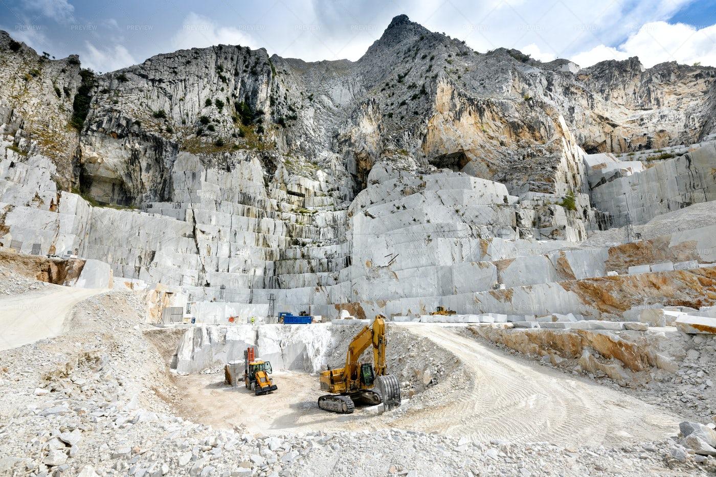 Open Cast Marble Quarry: Stock Photos