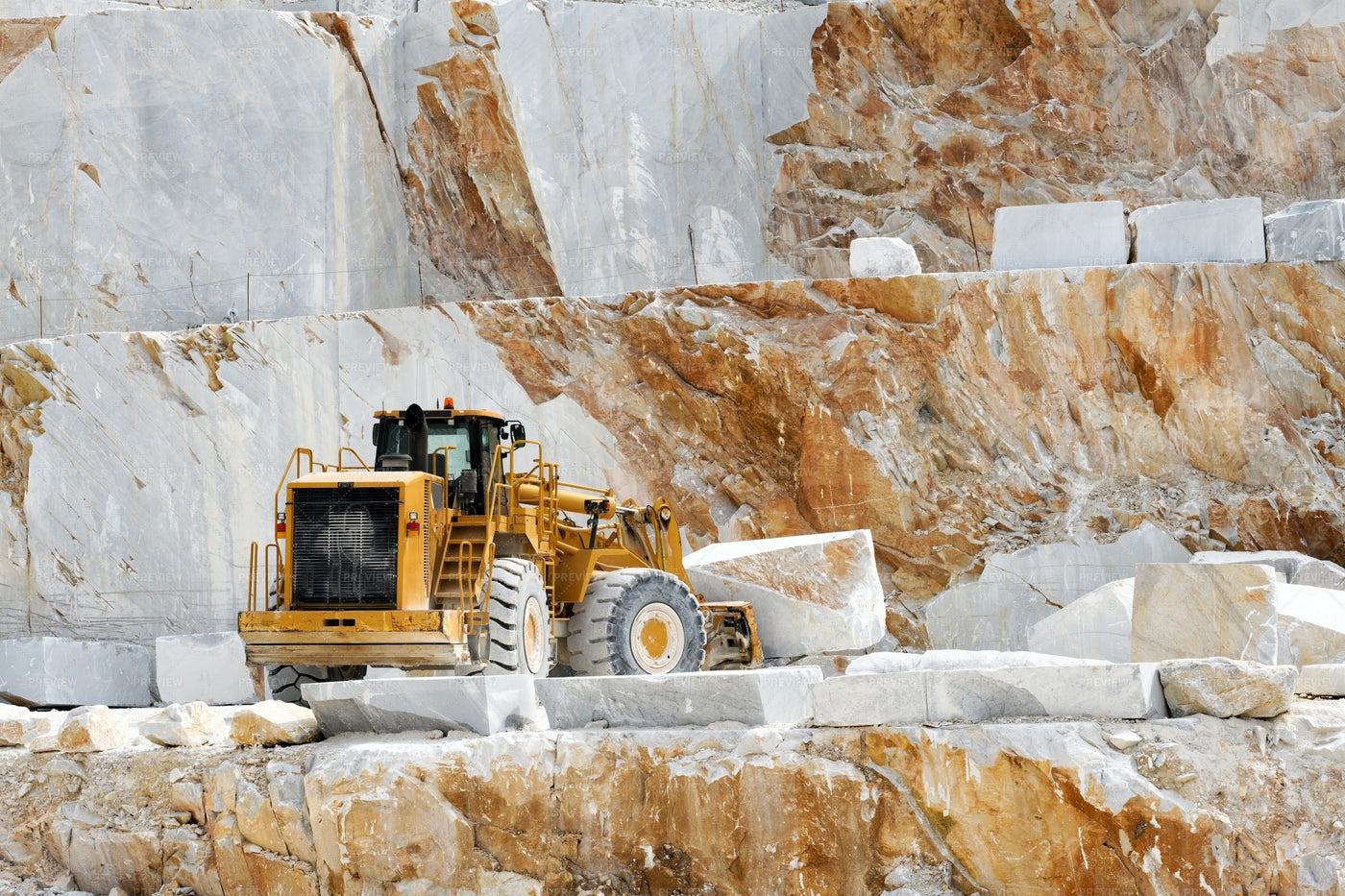 Moving Marble Blocks: Stock Photos