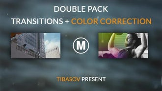 Double Pack Transitions And Color Correction: Premiere Pro Templates