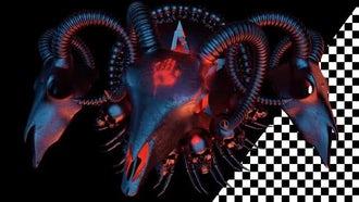 Goat Skull Devil Sign: Motion Graphics