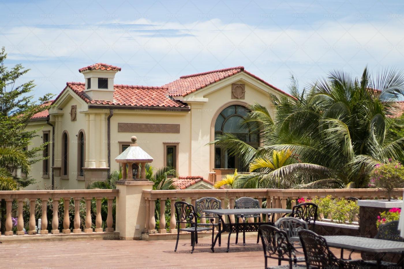 Tropical Luxury Villa Terrace: Stock Photos