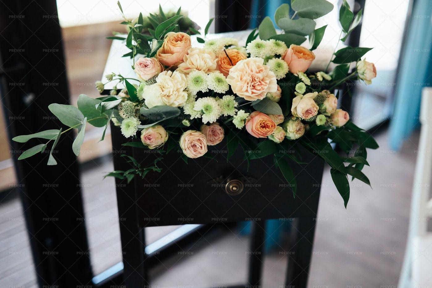 Bouquet On A Table: Stock Photos
