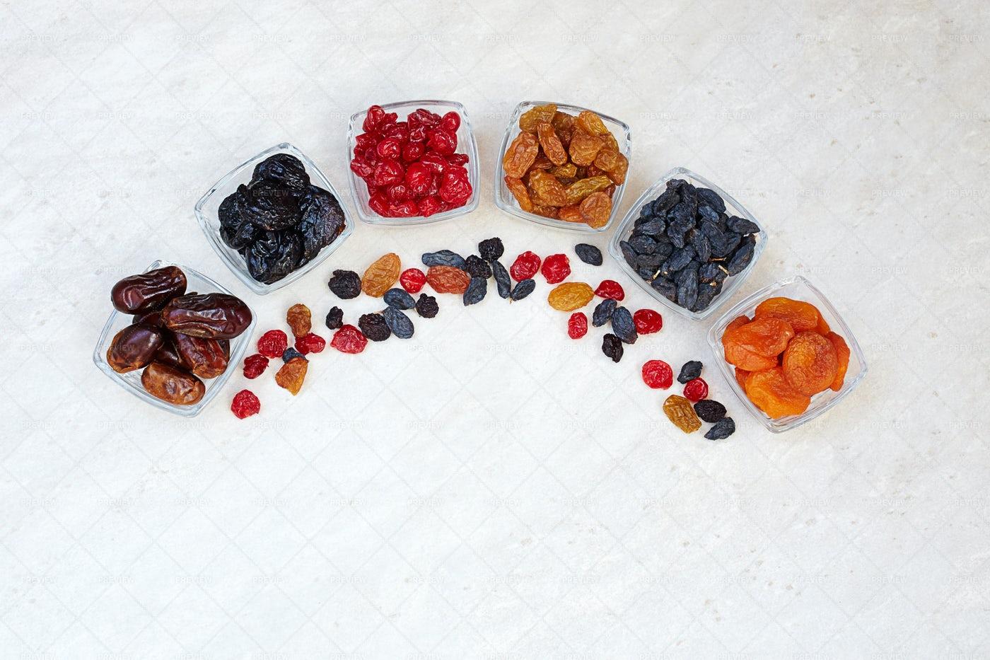 Prunes, Raisins, Dates: Stock Photos