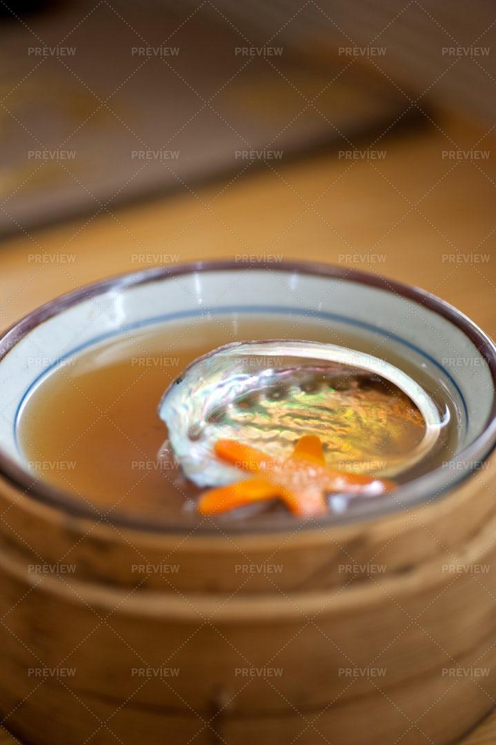 Japanese Style Abalone Soup: Stock Photos
