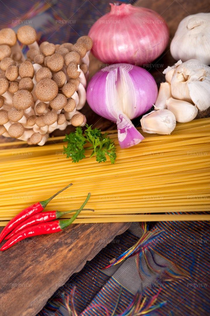 Fresh Pasta Ingredients: Stock Photos