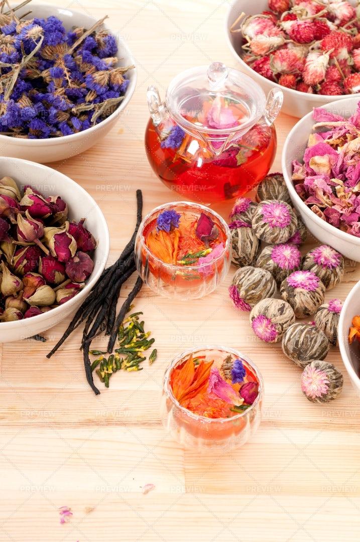 Tasty Floral Tea: Stock Photos