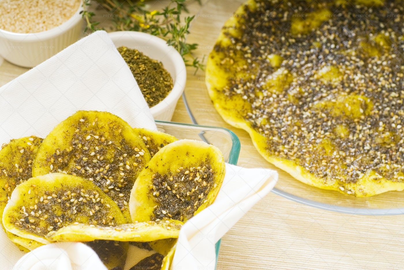 Lebanese Bread: Stock Photos