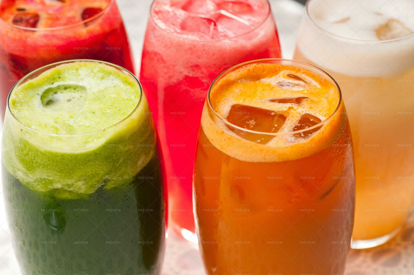 Colorful Healthy Drinks: Stock Photos