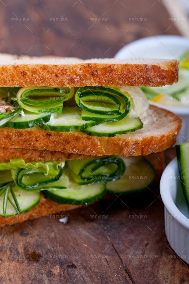 Cucumber Sandwiches: Stock Photos
