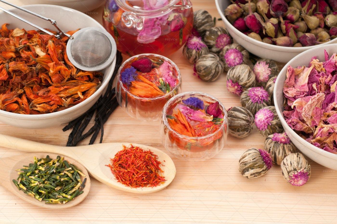 Natural Floral Tea: Stock Photos