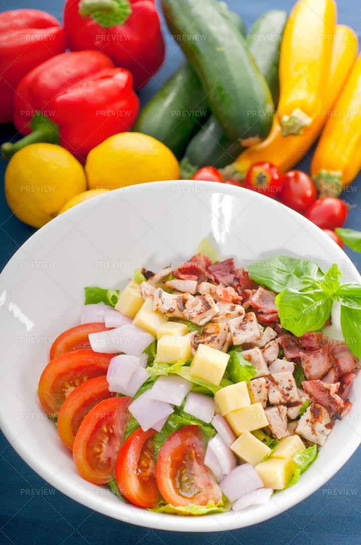 Fresh Caesar Salad: Stock Photos