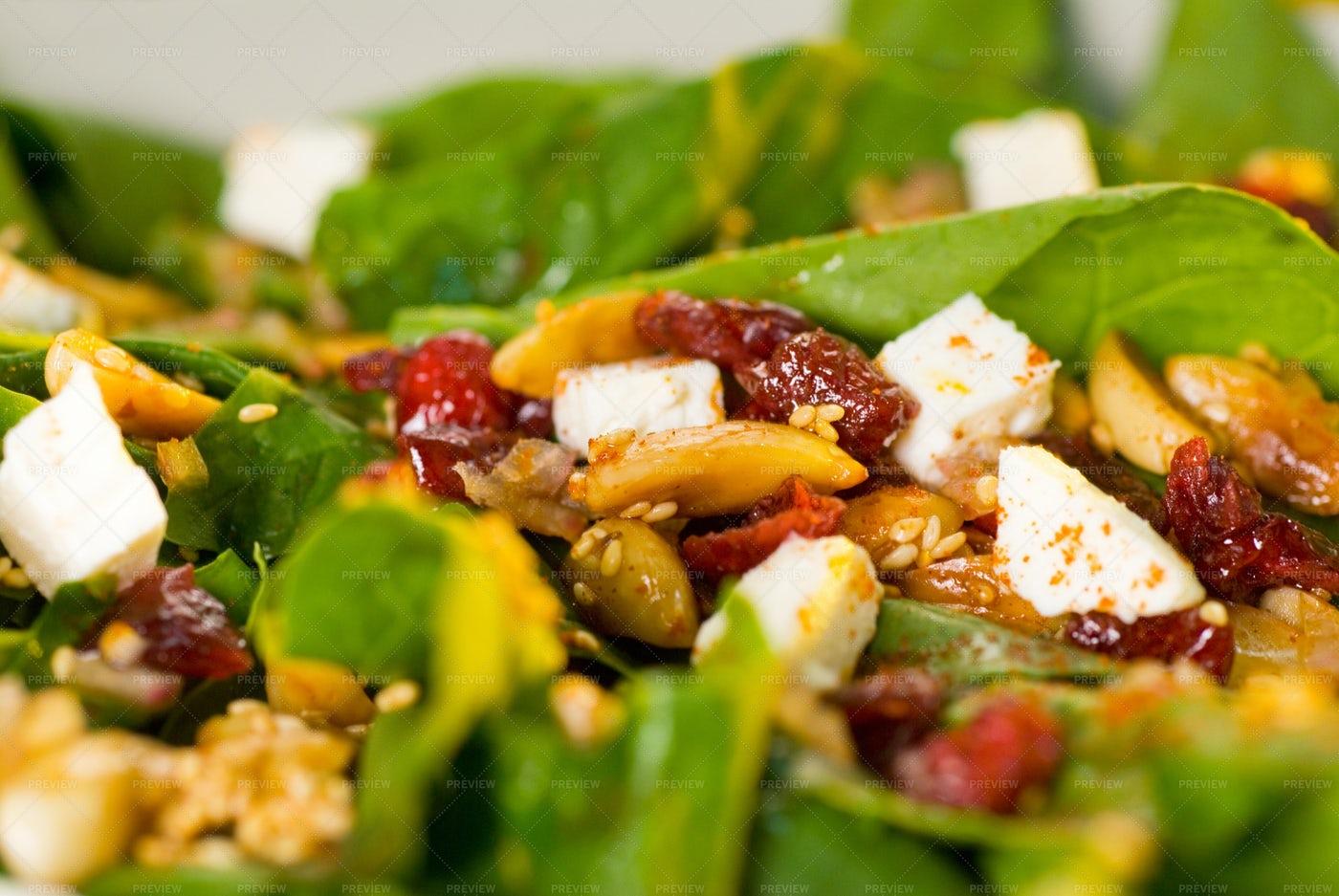 Spinach Salad: Stock Photos