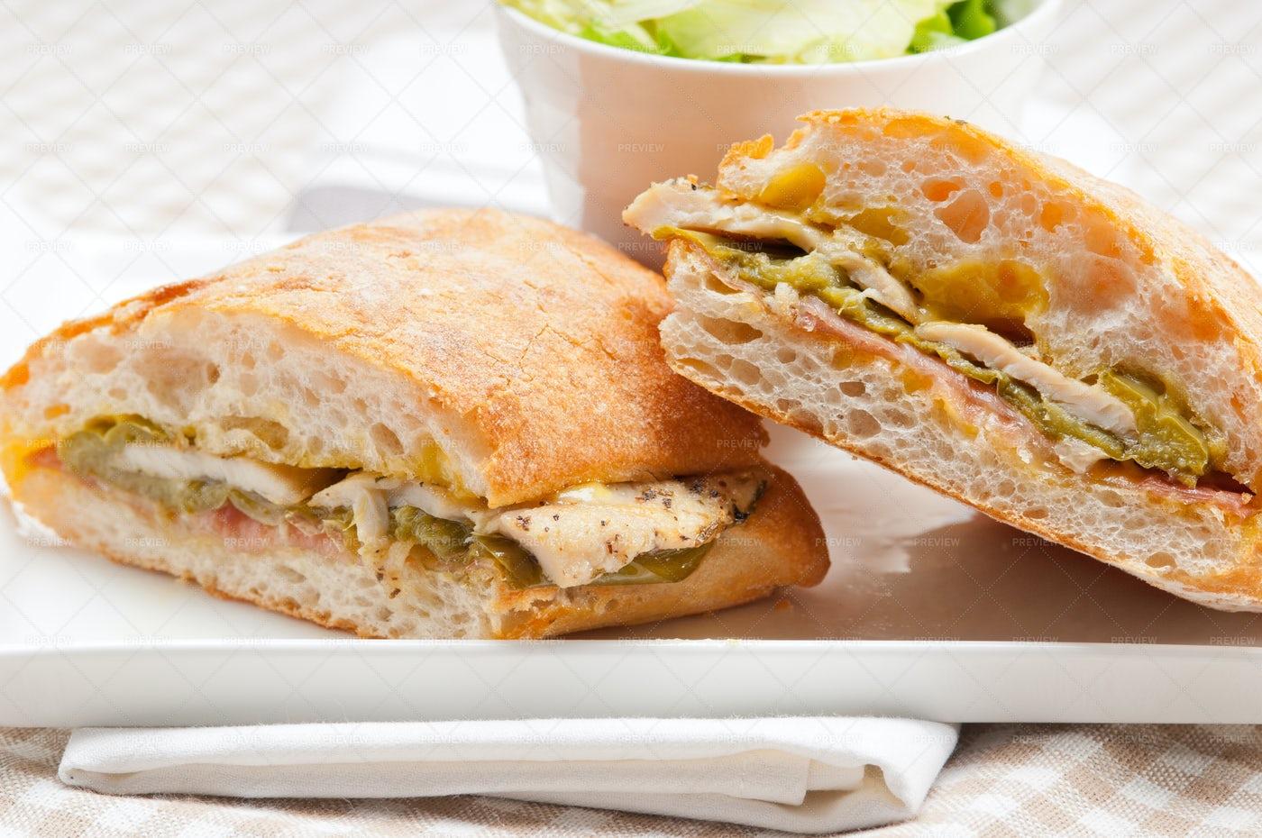 Italian Panini Sandwich: Stock Photos