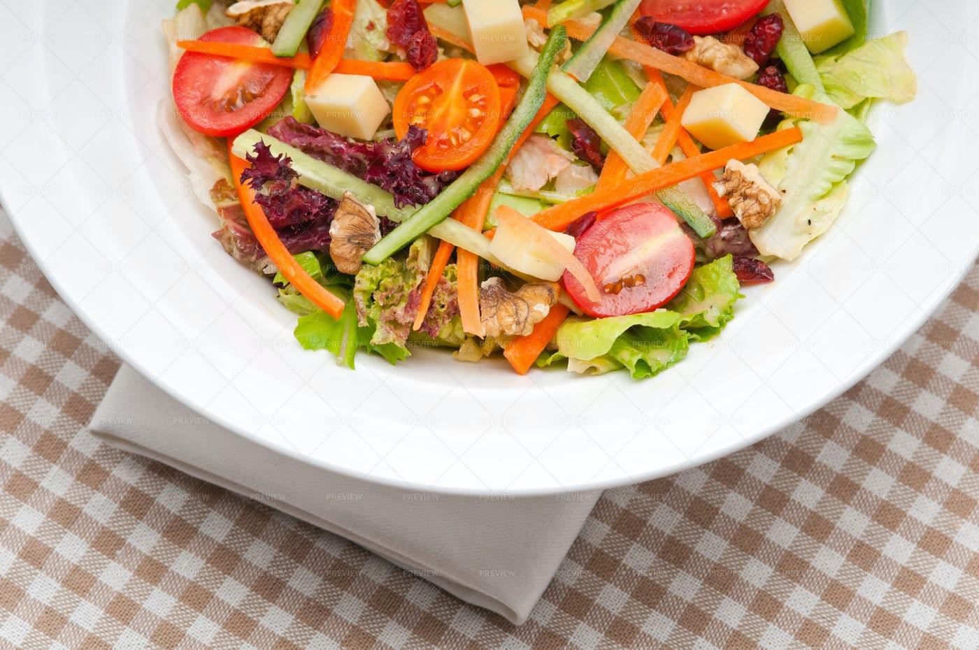 Fresh Colorful Healthy Salad: Stock Photos