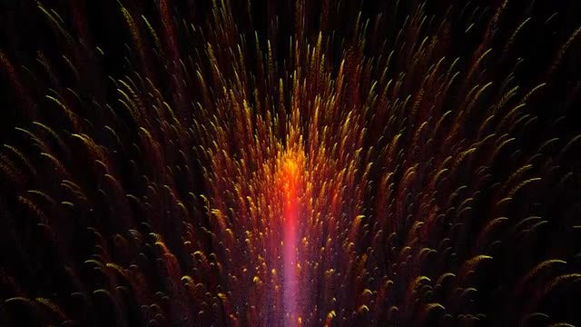Pyrotechnics Display Background: Stock Motion Graphics