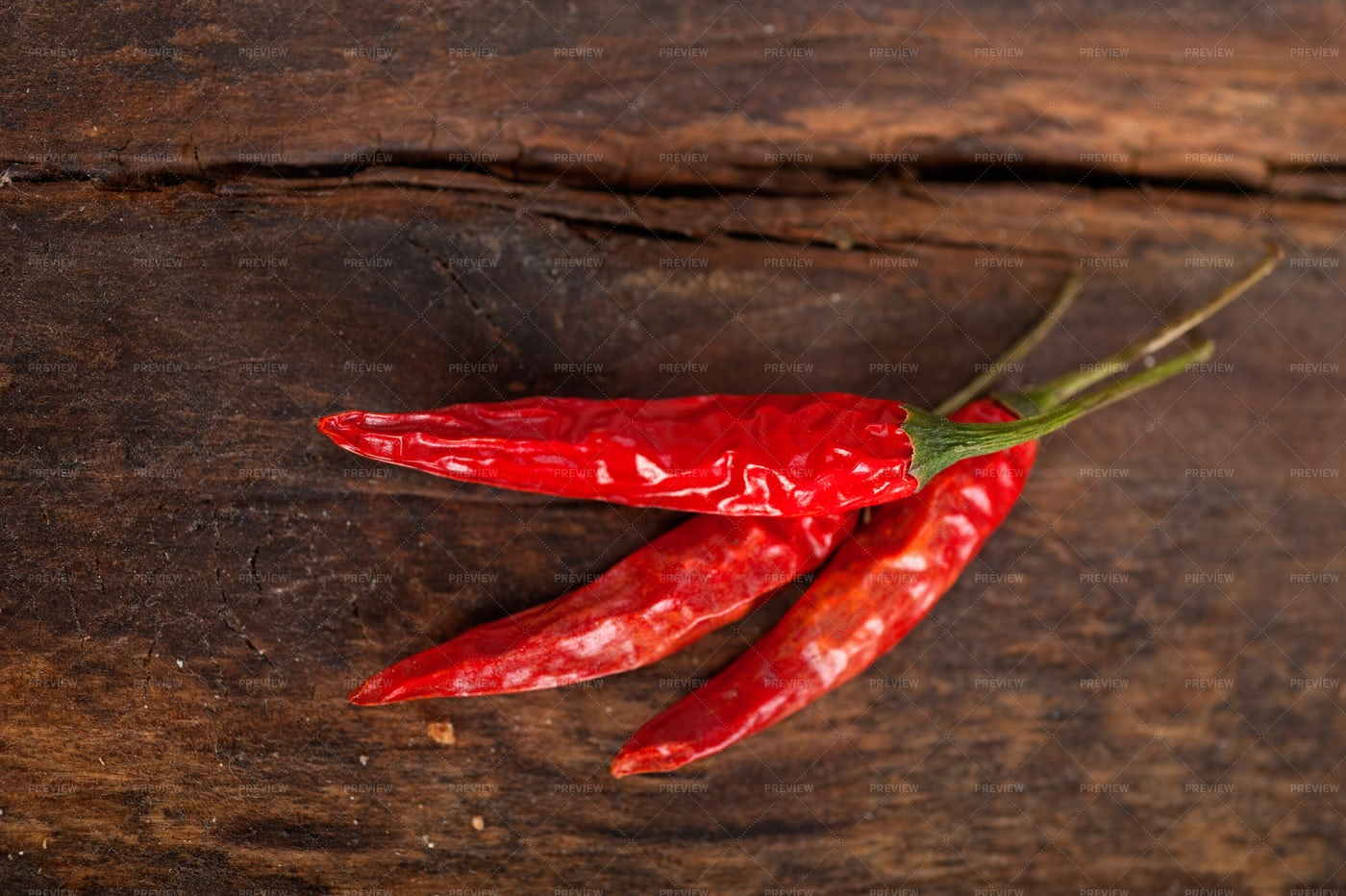 Dry Red Chili Peppers: Stock Photos