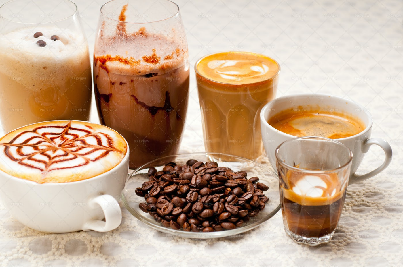 Types Of Coffee: Stock Photos