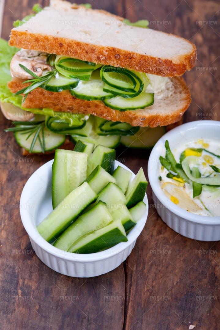 A Cucumber Sandwich: Stock Photos