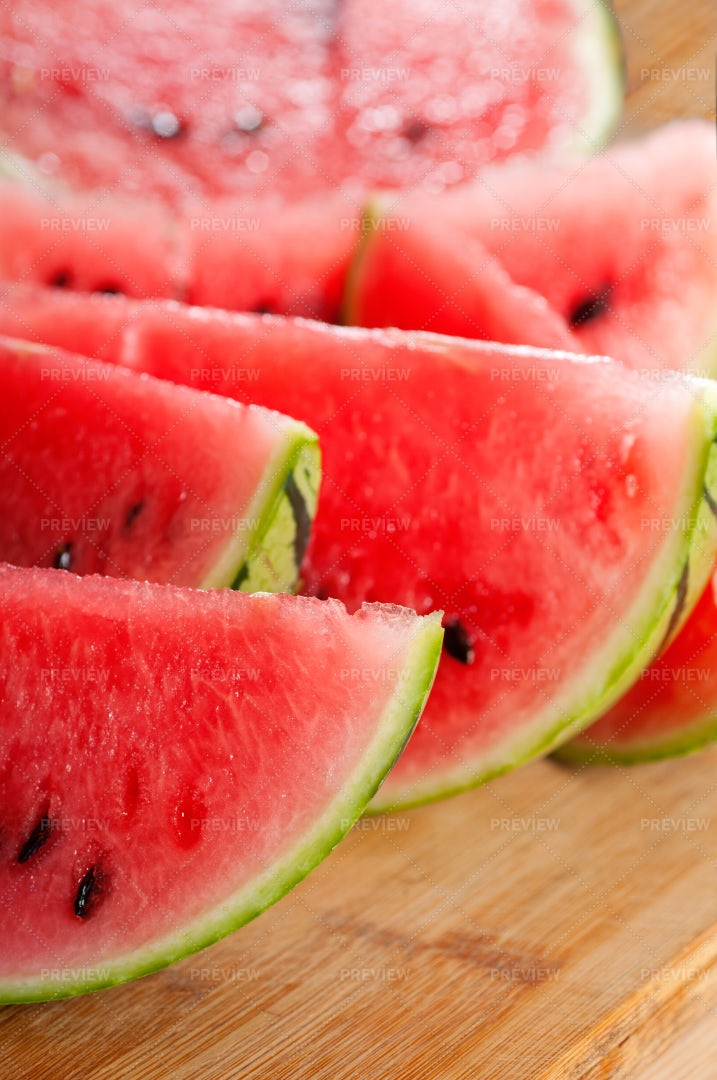 Fresh Watermelon Slices: Stock Photos