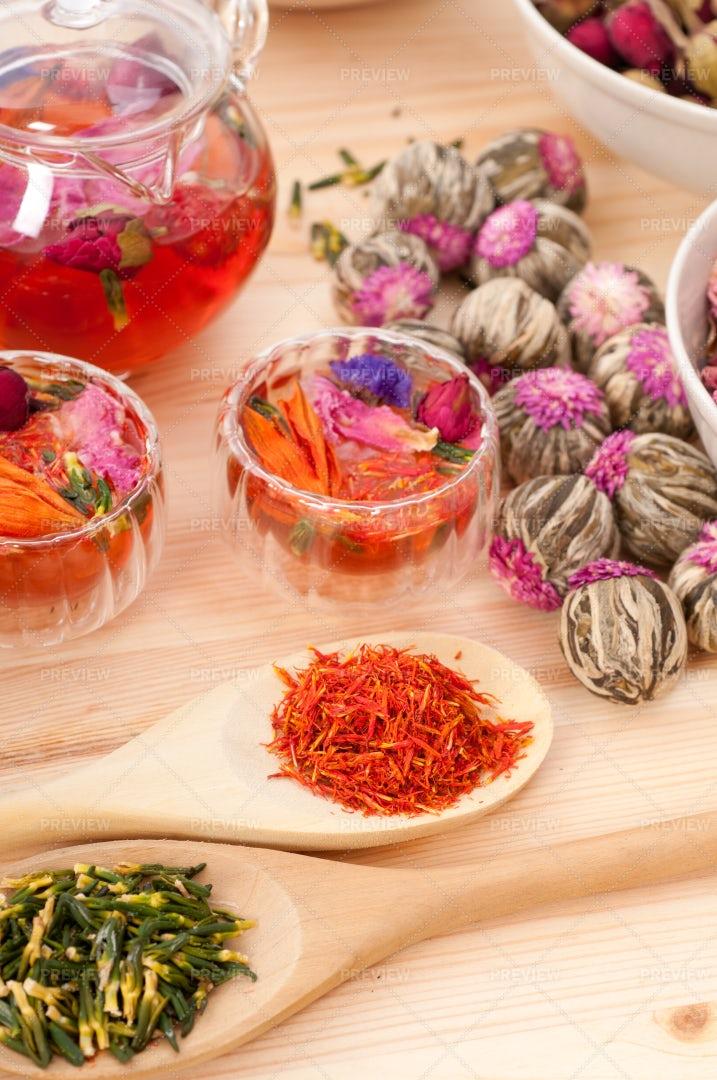 Herbal Tea Collection: Stock Photos