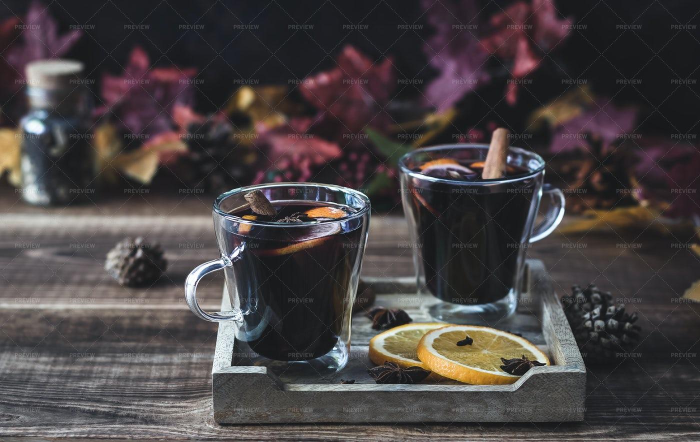 Autumn Mulled Wine: Stock Photos