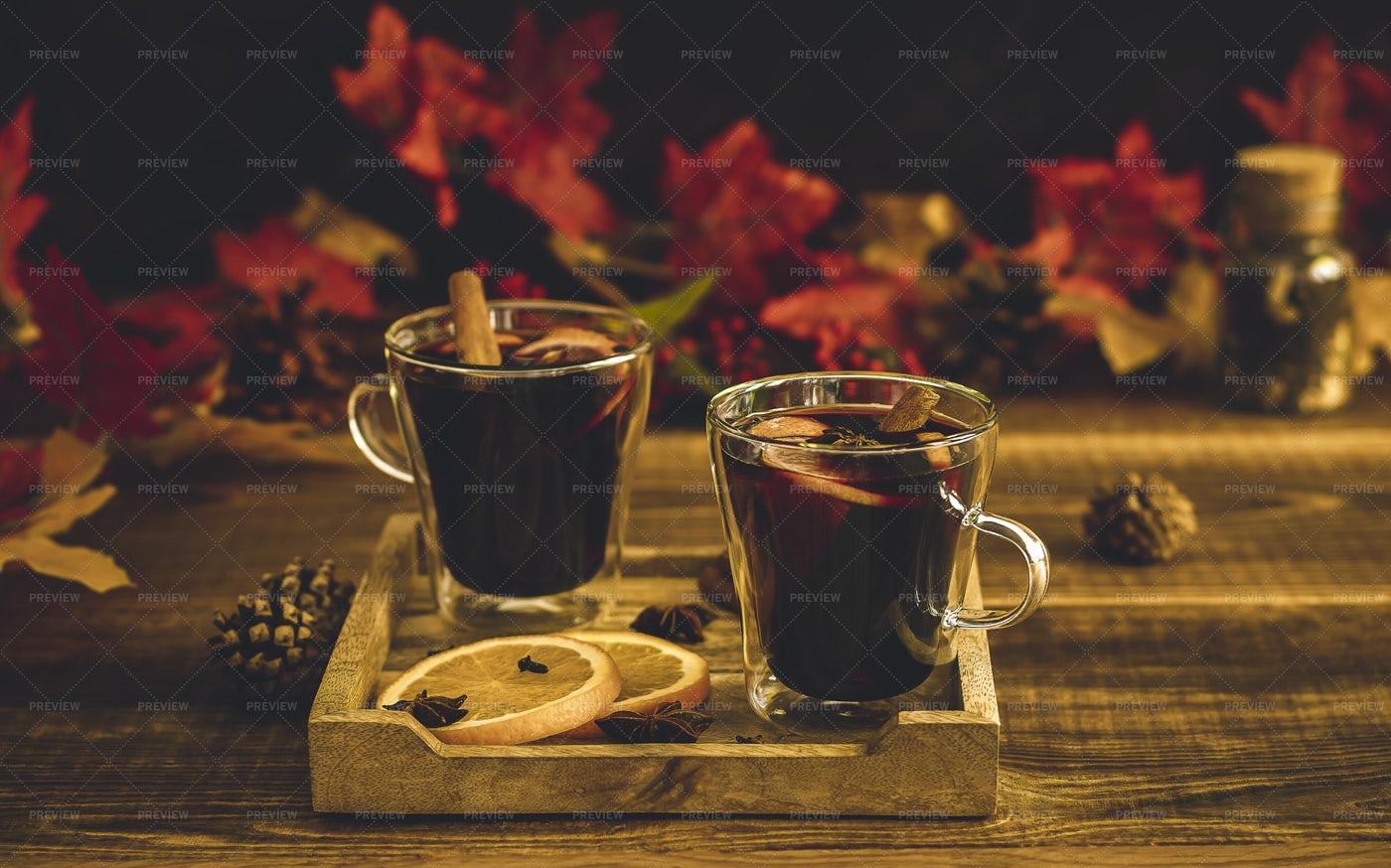 Autumn Warm Drink: Stock Photos