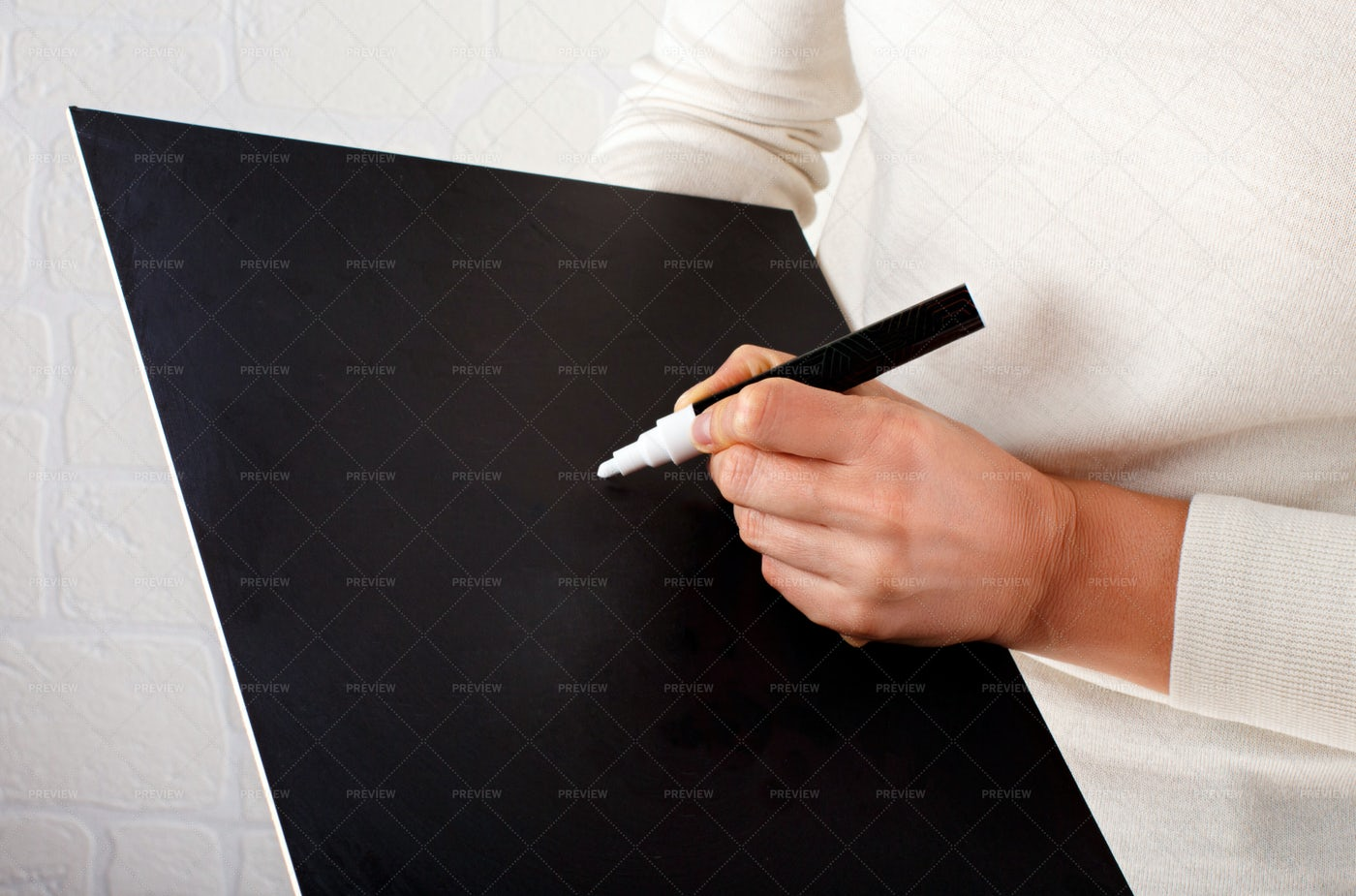 Writing On A Chalkboard: Stock Photos