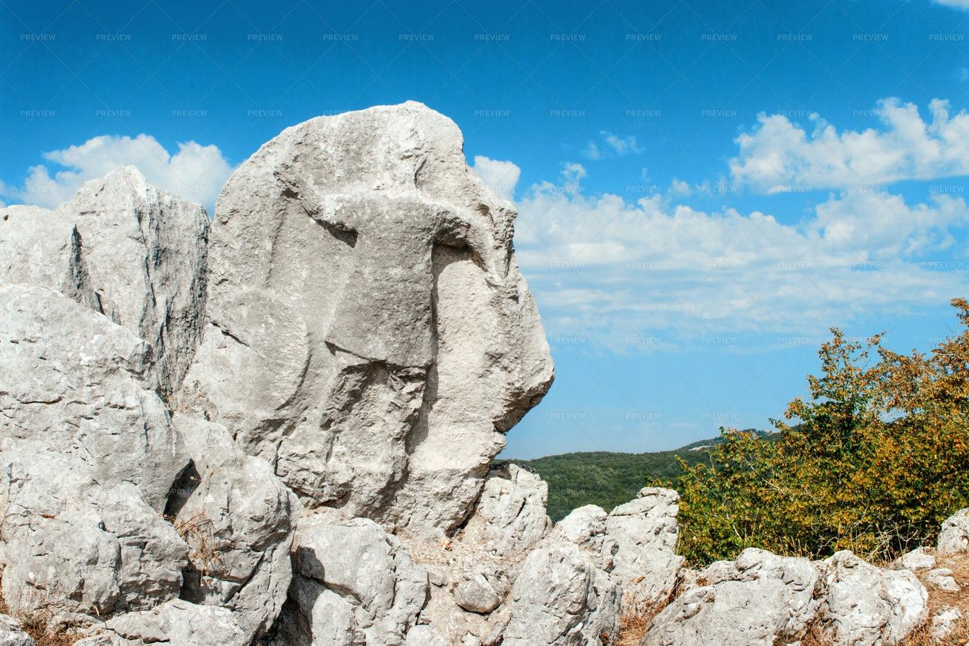 Stone Warrior Antece: Stock Photos