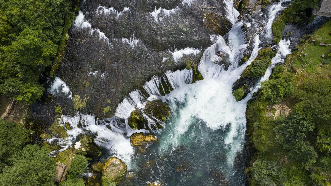 Waterfall Top View: Stock Photos