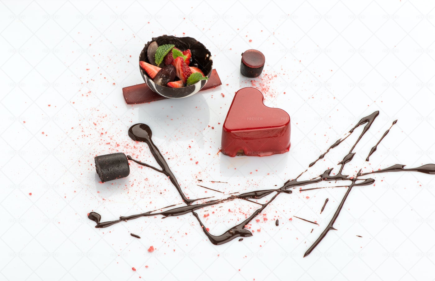 Sweets On A White Surface: Stock Photos